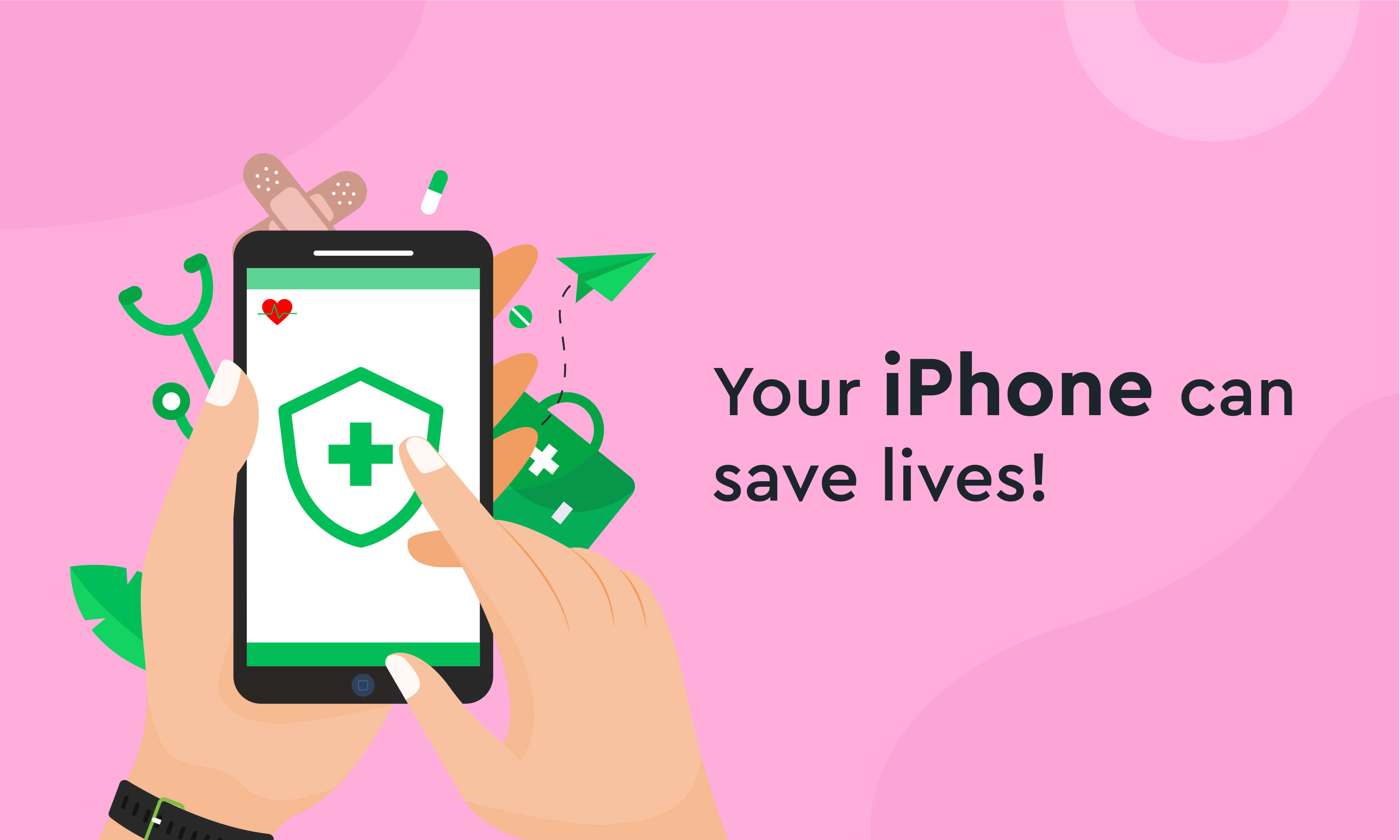 Your iPhone can save Lives!