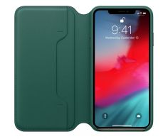 iPhone XS Max Leather Folio - Forest Green