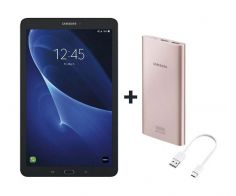 Samsung Galaxy Tab E 8-inch, 16GB, WiFi + 4G, Black RN - P + Samsung 10000mAh, Dual Port Power Bank with Type-C Cable, Pink