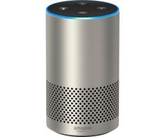 Amazon Echo, 2nd Generation, Smart Speaker with Alexa and Dolby Processing - Silver Finish