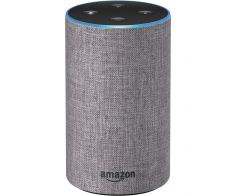 Amazon Echo, 2nd Generation, Smart Speaker with Alexa and Dolby Processing - Heather Gray Fabric