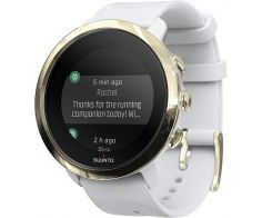 Suunto 3 Fitness GPS Smartwatch Stainless Steel Case 43mm with Silicone Band - Gold