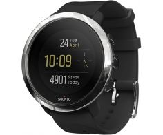 Suunto 3 Fitness GPS Smartwatch Stainless Steel Case 43mm with Silicone Band - Black