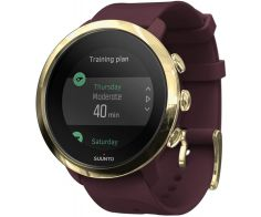 Suunto 3 Fitness GPS Smartwatch Stainless Steel Case 43mm with Silicone Band - Burgundy