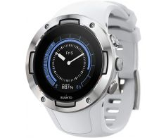 Suunto 5 Compact GPS Smartwatch Stainless Steel Case 46mm with Silicone Band - White